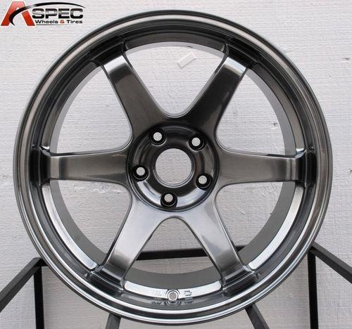 ES221 18x9 5 12 18x10 5 15 5x114 3 73 1 Hyper Black Wheels Rims