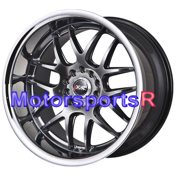 Chromium Black Staggered Wheels Rims 03 04 06 07 Infiniti G35 Coupe S