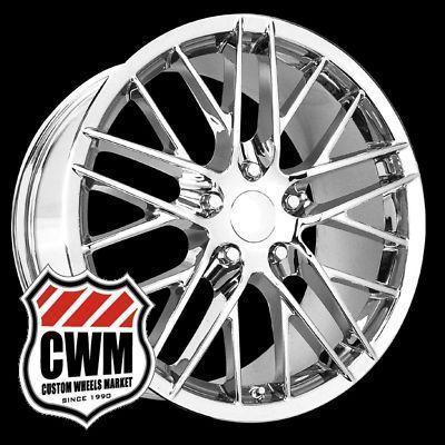 Corvette C6 ZR1 Style Chrome Wheels Rims Fit Corvette C6 2005