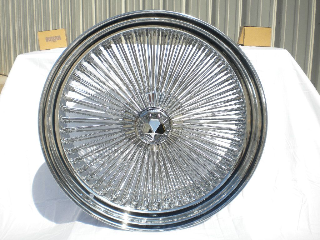 17 Dayton Chrome 17x8 Wire Wheels Full Set Rims New Rear Wheel Drive