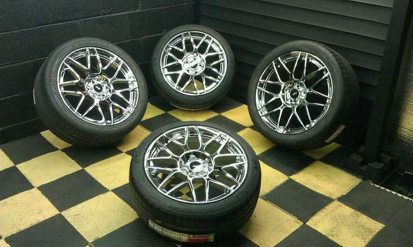 Ford Mustang GT500 Chrome Wheels Rims Tires Factory 3865 3866