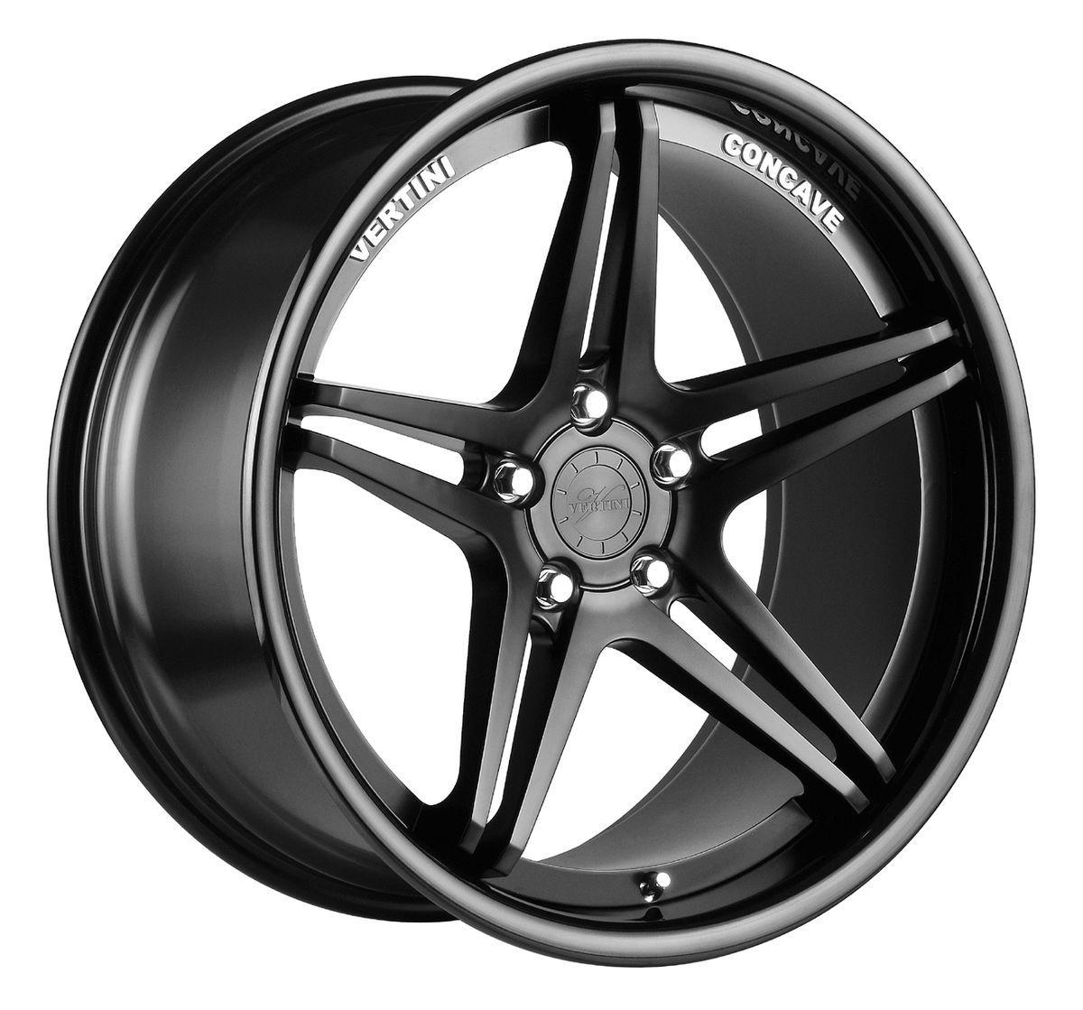 20 VERTINI MONACO BLACK RIMS WHEELS BMW E90 E92 328 335 528 535 550