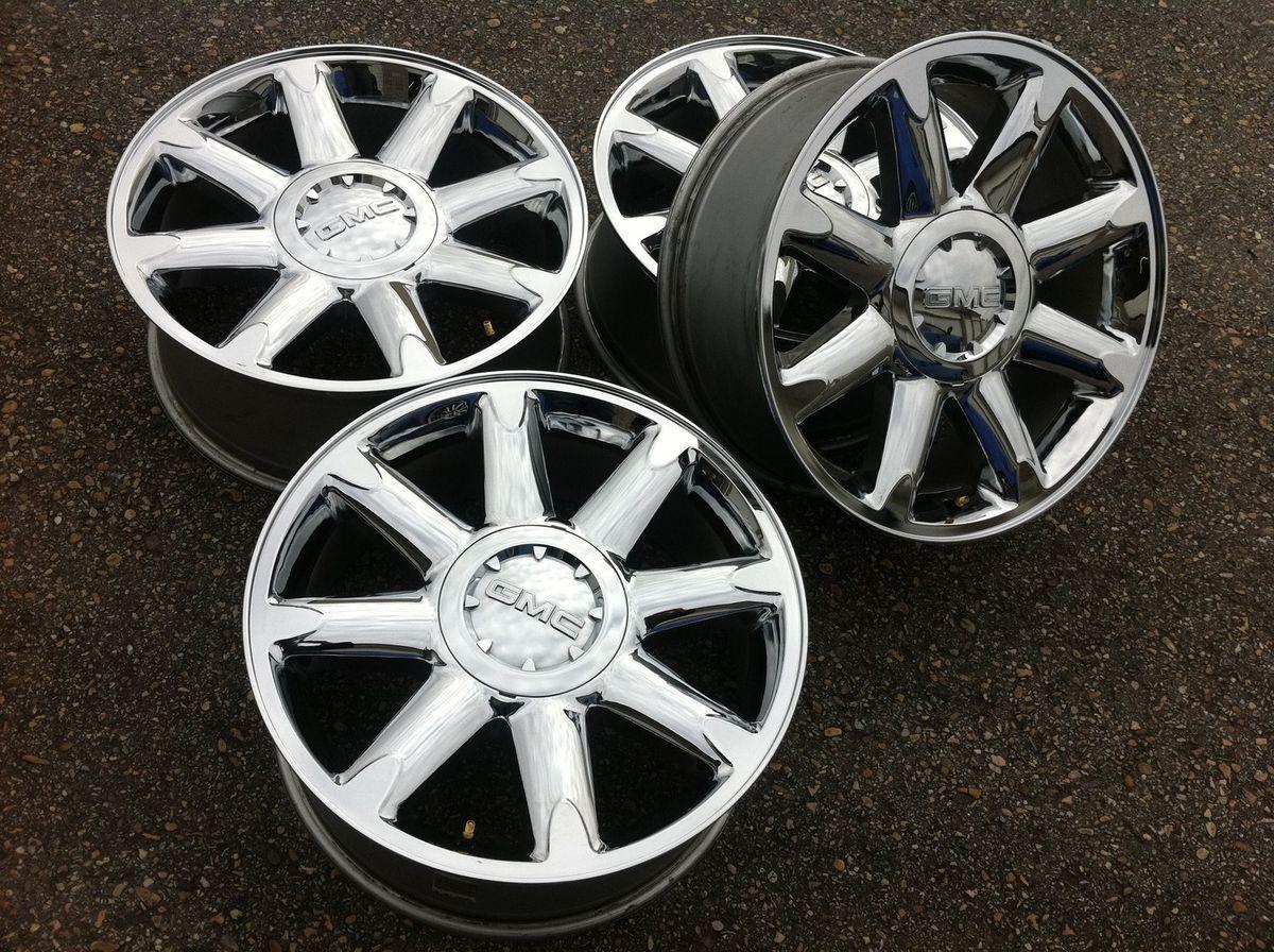 Denali 1500 Silverado Escalade 20 22 Stock Chrome Wheels Rims