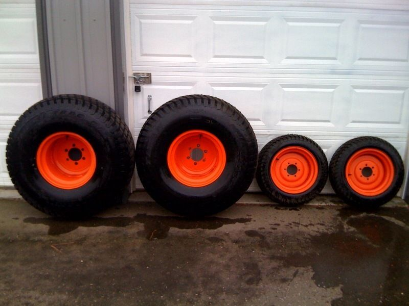 Used Kubota Tractor Wheel : Kubota turf tires rims b