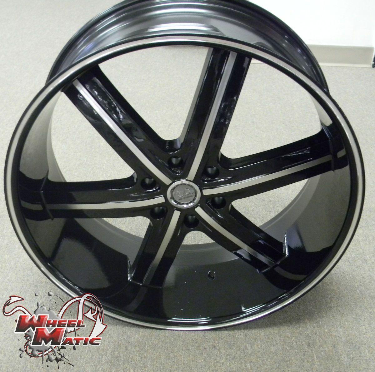 6x139 7 U2 55B Black Machine Wheels Rims Well Beat Any Price
