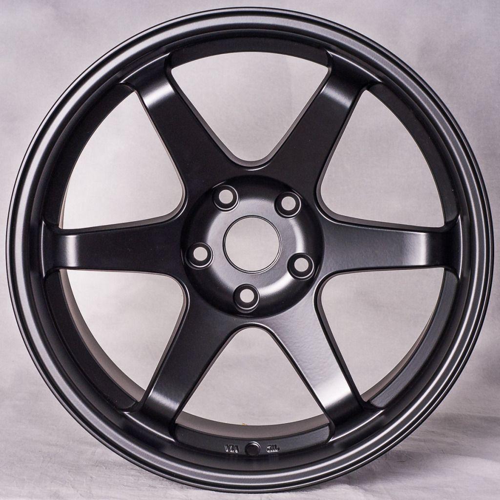Matte Black Staggered Style Wheels Rims Fit Nissan 350Z 370Z