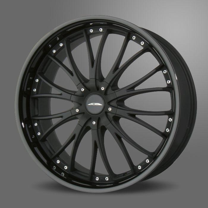 20 ACE EMINENCE BLACK RIMS WHEELS NISSAN 350Z INFINITI G35 COUPE FORD