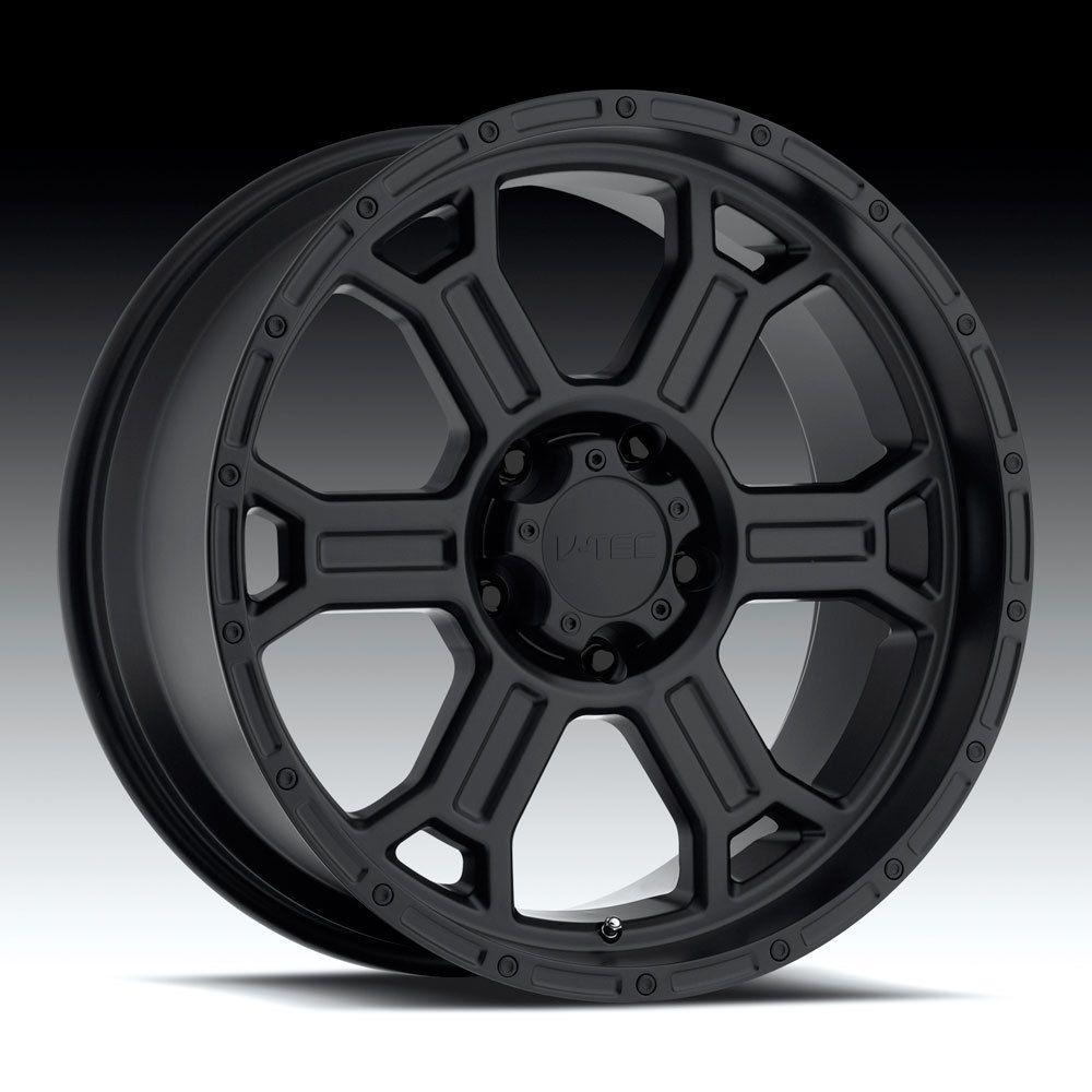 20 inch V Tec Raptor Matte Black Wheels 8x170 12 Ford F250 F350