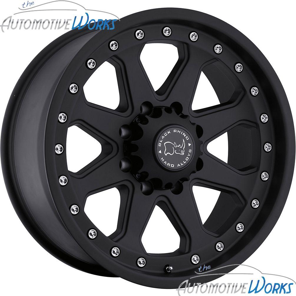 Imperial 8x165 1 8x6 5 12mm Matte Black Rims Wheels inch 17