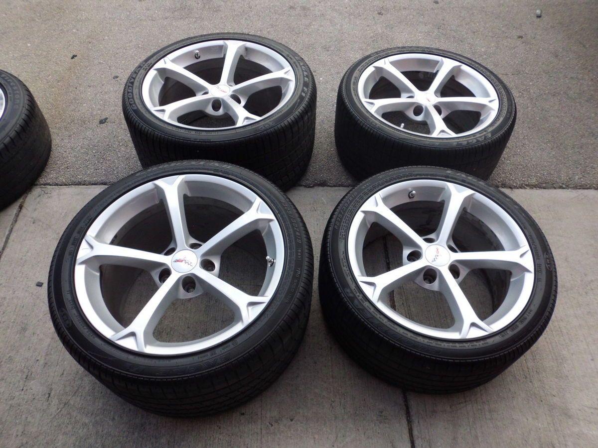 19 Chevy Corvette Z06 Grandsport Wheels Rims Tires Used Great Shape