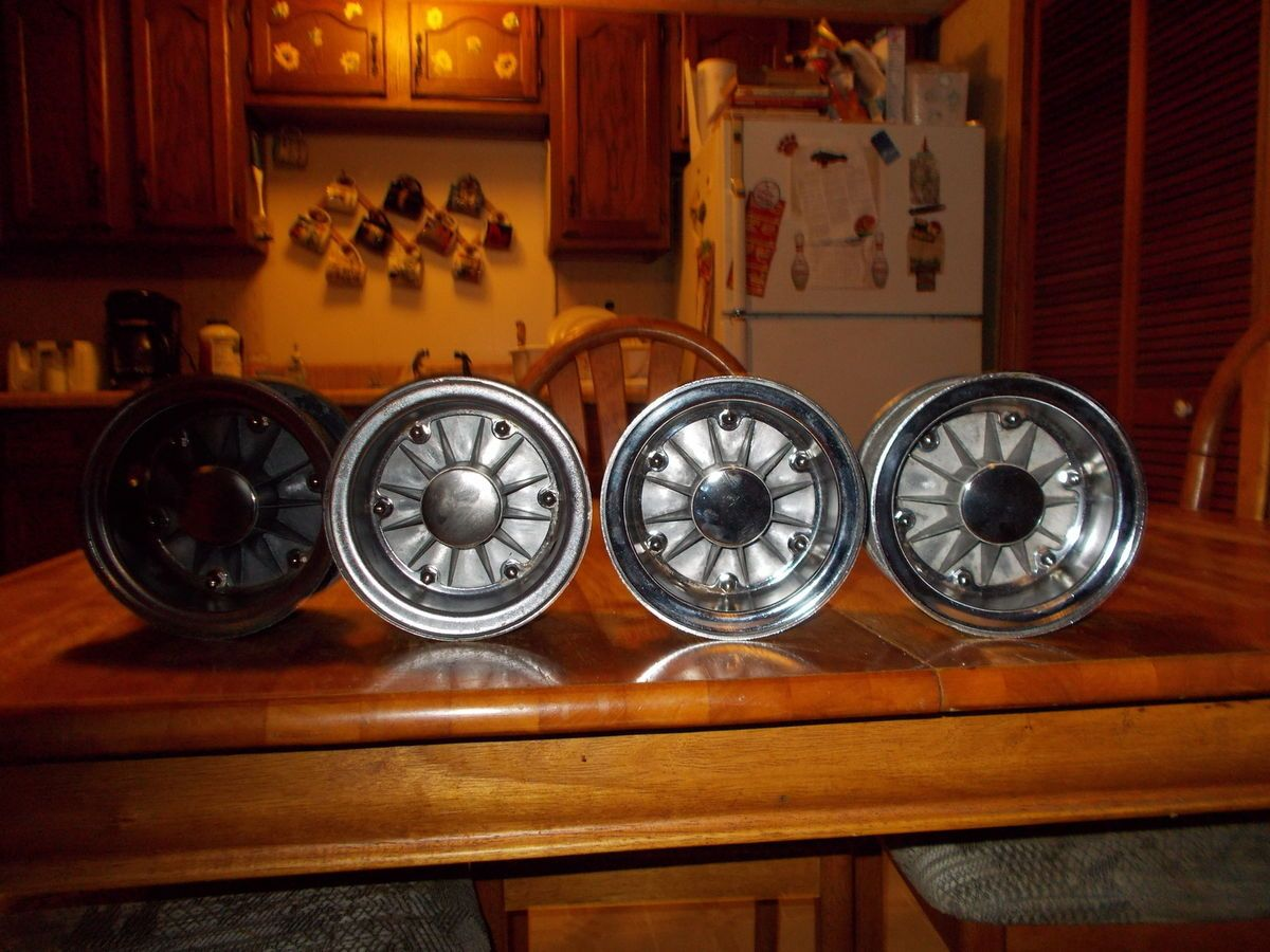 Vintage Go Kart Rupp Turbine Wheels Full Set Fronts and Rears