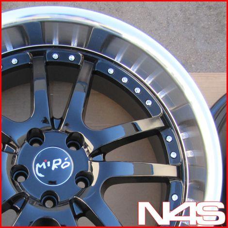 20 Nissan 350Z Miro 361 Black Staggered Wheels Rims