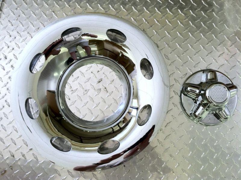 15 2pc Chrome Trailer Wheel Hub Cap Rim Covers