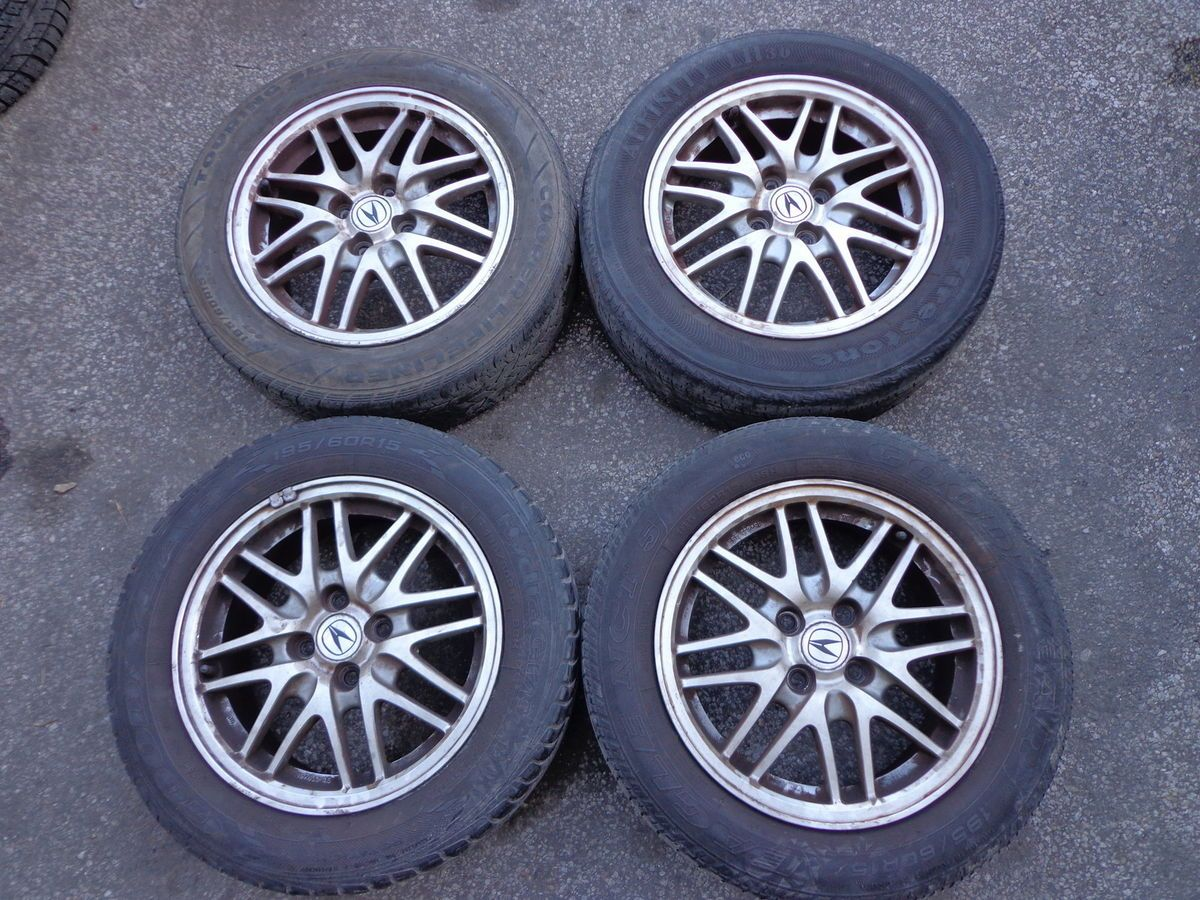 1998 Acura Integra LS Mesh Meshies Wheels Rims Tires Set
